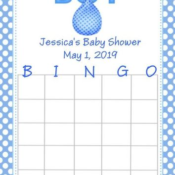 10 It's A Boy Baby Shower Bingo Cards