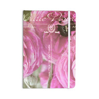 "Ann Barnes ""Paris Postcard"" Pink Flowers Everything Notebook"