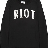 Zoe Karssen | Riot cotton-blend terry sweatshirt | NET-A-PORTER.COM