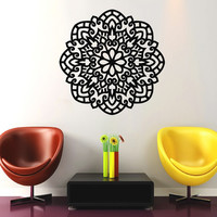 Mandala Wall Decal Namaste Flower Mandala Indian Lotus Yoga Wall Decals Vinyl Sticker Interior Home Decor Art Wall Decor Bedroom SV6029