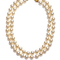 Chanel Double Strand Pearl Necklace by Vintage Chanel for Preorder on Moda Operandi