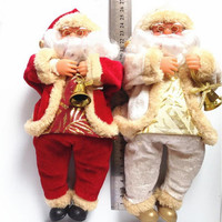New Arrival Christmas Decorations Santa Claus Toy Christmas Gift Doll Flannel Toys Xmas Decor Snowman Party Toys santa claus