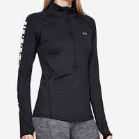 Under Armour Cold Gear Armour Graphic Half Zip Top Women - Tops - Macy's
