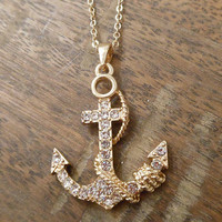 Gold Anchor and Rope Necklace | Candy's Cottage