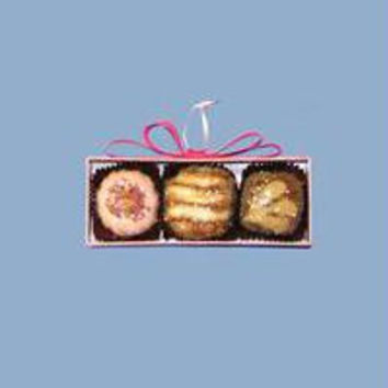 Christmas Ornament - Candies In Pink Rectangular Box