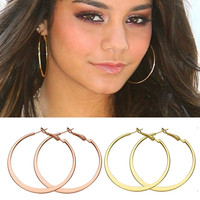Big Hoop Earrings 18K rose Gold Plated  Multicolor Jewelry minimalist Earrings For Women Brincos 2016 fashion