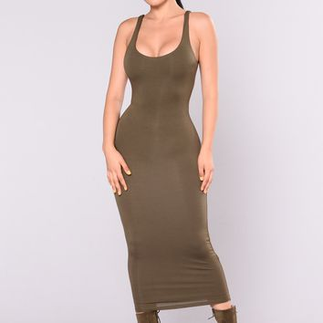 Your Needs Met Dress - Olive
