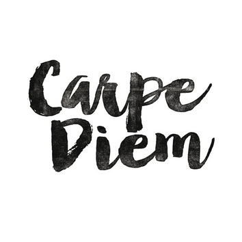 "Printable Art Inspirational Print ""Carpe Diem"" Typography Quote Home Decor Motivational Poster Scandinavian Design Wall Art"