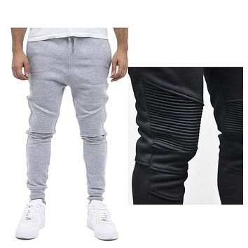 Fashion Biker Joggers Slim Fit Skinny Sweatpants Harem Pants Men Hip Hop Swag Clothes Clothing high street Gray Black West