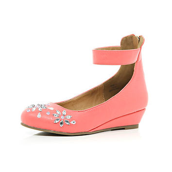 Girls coral betsy gem ballerina wedges - Shoes - shoes / boots - girls