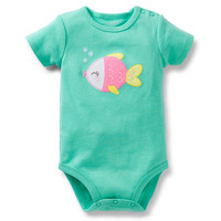 applique fish bodysuit