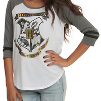 Harry Potter Hogwarts Gold Girls Raglan