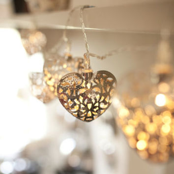 Filigree Heart Fairy Lights