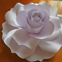 Giant White Paper Rose, White Paper Flower, Spring Summer Wedding Decor, Handmade Gift, Big Flower, Extra Large Paper Rose, Card Stock