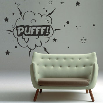 Wall Decal Vinyl Sticker Art Decor Puff Wire comics explosion cloud cartoon pop art star kids adults Living Room Bedroom Modern Gift (i99)