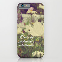 Dwell in possibility iPhone & iPod Case by Rachel Burbee