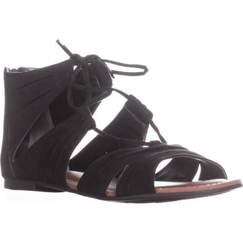 Carlos by Carlos Santana Chloe Gladiator Sandals, Black, 6 US / 36.5 EU