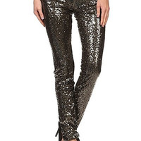 Sequin Pants - Bronze