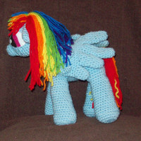 Rainbow Dash Pegasus Flying Pony  Inspired By My Little Pony