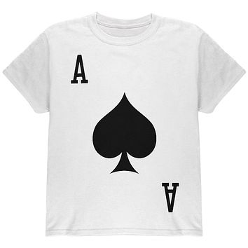 Halloween Ace of Spades Card Soldier Costume All Over Youth T Shirt