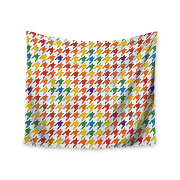 "Empire Ruhl ""Rainbow Houndstooth"" Wall Tapestry"