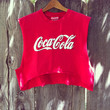 Vintage Reworked Coca Cola crop shirt by NewSpiritVintage on Etsy