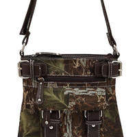* Brown Camouflage Print Deco Messenger Bag