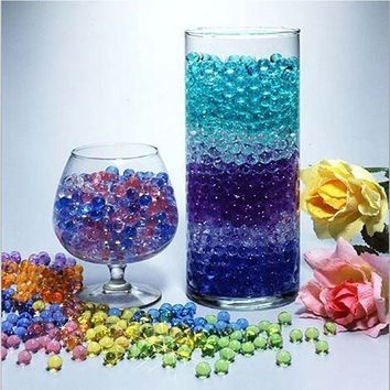 Home Decor Pearl Shaped Growing Balls Vase Crystal Decoration Hydrogel Water Plant Flower Jelly Gel Beads Balls Crystal Beads Oc