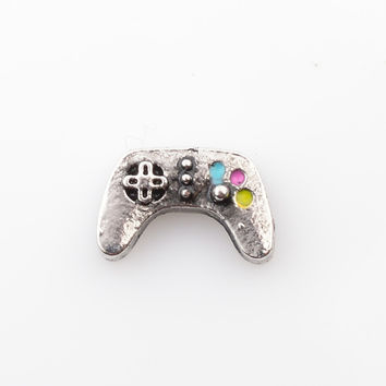 VIDEO GAME CONTROLLER floating charm,  living locket charm fit floating charm lockets, FC4105