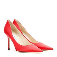 jimmy choo - agnes satin pumps