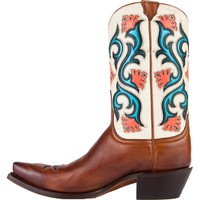 Women's Lucchese Floral Inlay Cowgirl Boots