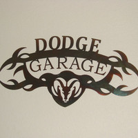 Dodge Garage 16 Gauge Mancave Metal Wall Art
