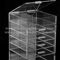 Acrylic Cube Makeup Organizer (5 drawers plus one w/lid)