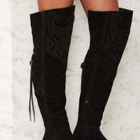 Understated Leather x Matisse Bolo Suede Boot - Black