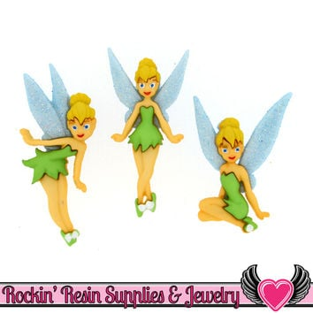 DISNEY Peter Pan TINKERBELL Dress It Up Jesse James Buttons