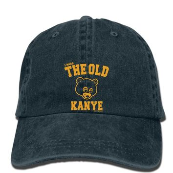 hip hop Baseball caps Kanye West I Miss The Old Kanye College Dropout cap + Hip Hop Stickers s New Fashion hat Men