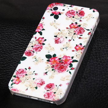 Rose flower phone case for iphone 5 5s SE + Nice gift box 072702
