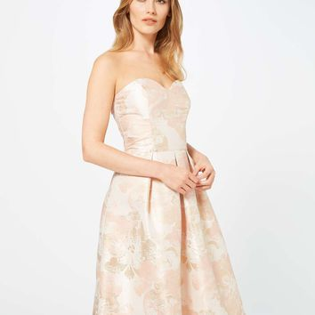 Jacquard Bandeau Prom Dress - Miss Selfridge