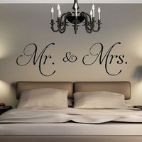 Hot Sale Mr. & Mrs. Vinyl Wall Decal Living Room Bedroom Decor Stickers Removable Convenient Wall Sticker Home Decor
