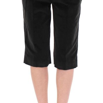 Black cotton shorts pants