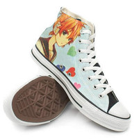 Vocaloid Kagamine Rin and Len Shoes,High Top,canvas shoes,Painted Shoes,Special Christmas Gift,Birthday gift,Men Shoes,Women Shoes