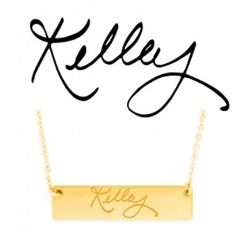 Signature Block Nameplate Pendant