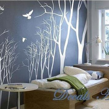 Love Forest - Vinyl wall sticker- wall decal- tree decals- wall murals art - nursery wall decals- Tree -Nature
