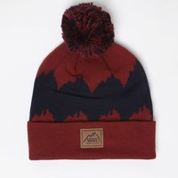 Vans Garrison Pom Beanie - Mens Hats - Red - One