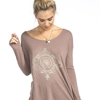 O'neill Bandana Bandit Womens Tee Mauve  In Sizes