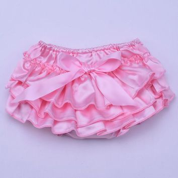 Hot Shorts Chiffon Ruffles Baby Bloomers Diaper Cover Newborn Infant Tutu Ruffled Panties Easy Clean Dots Gold Floral Baby  16ColorsAT_43_3