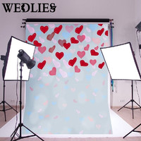 210X150CM Love Heart Photography Background Cloth Studio Photo Backdrop Photo Booth Prop Valentine's Day Party Events Decoration