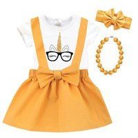 Unicorn Mustard Outfit Glasses Top And Jumper