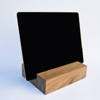 iPad Stand. Wooden iPad Stand. Walnut iPad Stand. iPad wood dock station. Nexus 10 Stand. Wood Tablet Stand