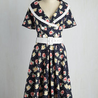 Classic Act Dress in Navy | Mod Retro Vintage Dresses | ModCloth.com